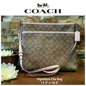NEW Coach Signature File Bag w/ gift box